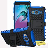 Samsung Galaxy J3 (2016) Handy Tasche, FoneExpert® Hülle Abdeckung Cover schutzhülle Tough Strong Rugged Shock Proof Heavy Duty Case für Samsung Galaxy J3 (2016) + Displayschutzfolie