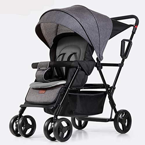 DGDG Kinderwagen Unisex Zwei-Wege-Kinderwagen Doppel-Twin-Kinderwagen Neugeborenes Baby Falten Liegen Kann Baby Auto Sitzen (Doppel-kinderwagen Falten)