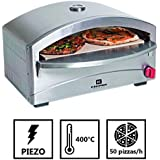 Barbacoa Gas Horno a Pizza única–cocinado sobre Pierre réfractaire- 4,8kW–400°C en 5MN–Estructura acero inoxidable–Encendido Piezo