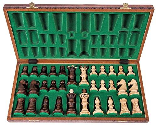 Schach-Schachspiel-AMBASADOR-LUX-52-x-52-cm-Schachfiguren-Schachbrett-aus-Holz