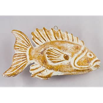 Ceramic Fish Plaque for wall decoration - Fair trade and handmade in ...