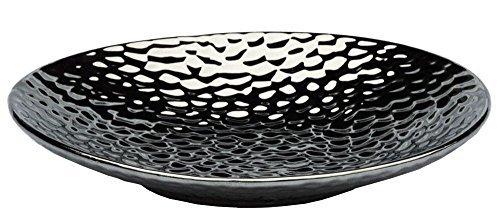 DRULINE Moderne Dekoschalen Silber Dekovasen Schale Dekoteller Obstschale Kerzentablett (Moderne Schale/Rund)