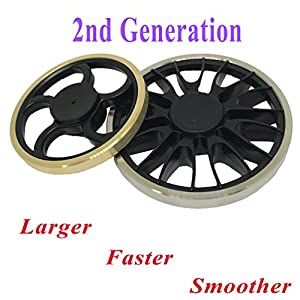 Jawell Fidget Hand Spinner EDC Toy with HighSpeed Spinning Superb Bearing Gold Round Edge Good for Stress Relief and Deep Thought by Jawell Ltd.
