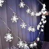 LED Guirlande lumine, fil de cuivre de perle flexible de...