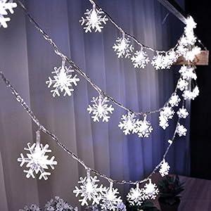 Micro LED Lichterketten, Milota Warmweiß Flexible Perle Kupferdraht 19,7 ft 60 LEDs Lichterkette Dekoration Beleuchtung für Parteien, Weihnachten, Handwerk Glas Flasche und Hochzeit Fest (Snowflake)