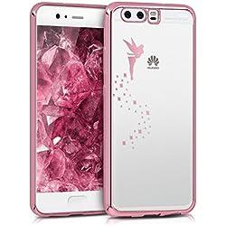kwmobile Coque Huawei P10 - Coque pour Huawei P10 - Housse de téléphone en Silicone Or Rose-Transparent