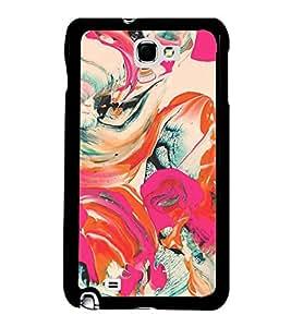 Fiobs Designer Back Case Cover for Samsung Galaxy Note 2 :: Samsung Galaxy Note Ii N7100 (jaipur rajasthan african america cross pattern)