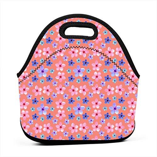 Bento Bag portatile multifunzionale di Cherry Blossom Pattern I, borsa della scatola di pranzo per l'ufficio di lavoro di viaggio della scuola