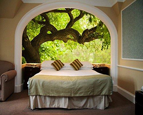 Startonight Fototapete Kunstdruck Grüner Baum, Wandbild Großformatige Modern Muster Dekorative Kunst Wand 128 x 183 CM