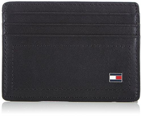 Tommy Hilfiger Herren HARRY CC HOLDER Ausweis- & Kartenhüllen, Schwarz (BLACK 990), 10x7x1 cm
