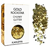 Gold Rockstar Chunky Glitter ✮ COSMETIC GLITTER ✮ Festival Glitter Sparkle Hair Body Face Nails