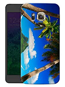 "Humor Gang Beach View Printed Designer Mobile Back Cover For ""Samsung Galaxy Alpha"" (3D, Matte Finish, Premium Quality, Protective Snap On Slim Hard Phone Case, Multi Color)"