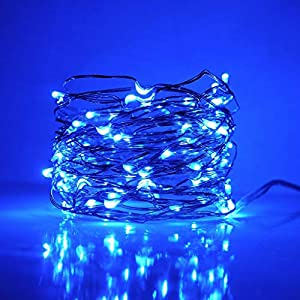 Dapei LED Kupferdraht Lichterkette mit Fernbedienung, Wasserdicht IP65 warmweiß Dimmbar Lichterkette, 10m 100er LED…