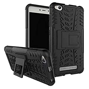 Yes2Good Rugged Hard Back Cover Kickstand Armor Case for Xiaomi Redmi 4A (Black)