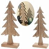 LS Design Deko Holz Weihnachtsbaum Tannenbaum Dekoration Holzbaum Baum X-Mas