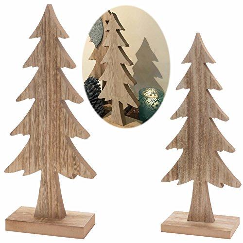 LS Design XL Deko Holz Weihnachtsbaum Tannenbaum Dekoration Holzbaum Baum X-Mas