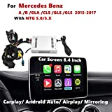 Carplay Android Auto Nav Receiver Compatible for Mercedes Benz A B GLA CLS GLS GLE Original Screen 8.4 inch, NTG 5.0/5.X 2015-2017 (AirPlay, Goolge, Mirrorlink)
