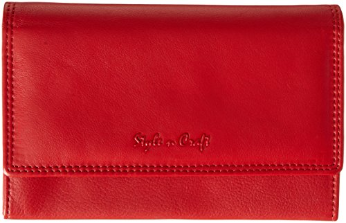 Price comparison product image Style n Craft 300953-RD Bifold Wallet with Side Flap in High Grade Cow Leather