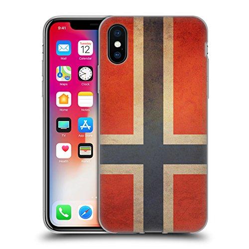 Head Case Designs Arménie Arménien Drapeaux D'époque 4 Étui Coque en Gel molle pour Apple iPhone 5 / 5s Norvège Norvégien