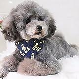 hongyh Puppy Halsbänder Leine Bandana, verstellbar Puppy ID Schnalle Kragen Leder, Cute Flower Bandana Dog Halsband für kleine Hunde und Katzen