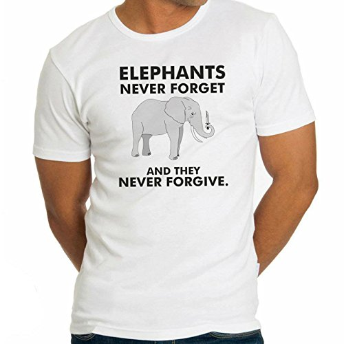 Elephants Never Forget And They Never Forgive XL Uomini T-Shirt
