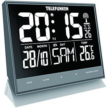 Wanduhren Sinnvoll Dcf Funk-wanduhr Funk-uhr Bad-uhr Badezimmer-uhr Digital Thermometer Display
