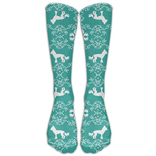 Kind Invisible Mann Kostüm - Gped Kniestrümpfe,Socken 3D Chinese Crested Dog Breed Silhouette Floral Fabric(3648) Stockings Hip-hop Fashion Women's Stockings Tube Skatebo Ard Stockings Spring Towels Fashion Stockings Length 50CM