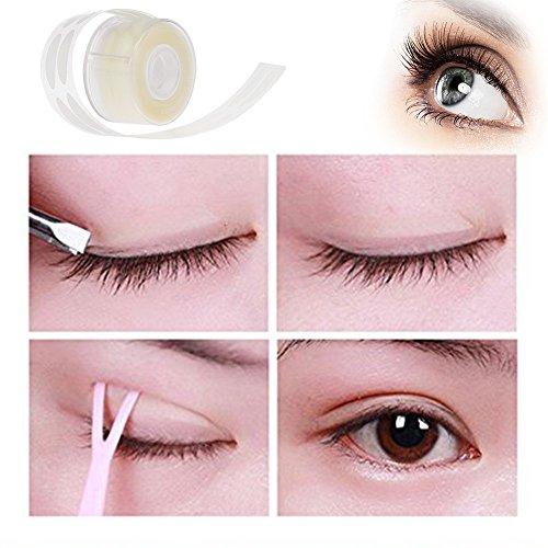 Hykis 500 Paar Adhesive Invisible Doppelfalte Augenlid Band Aufkleber Streifen l?schen Beige Paste