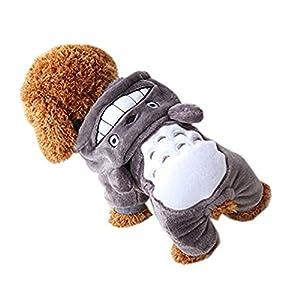 Dupet Halloween Costume de chien Dessin animé Motif Winter Pet Vêtements pour chiens de petite taille