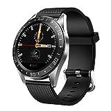 DYH&WW Herren Smart Watch, 1,2-Zoll-Bildschirm, Herzfrequenz-Überwachung, IP67 wasserdicht, Anruf Nachricht erinnern, Smart Watch für Android IOS
