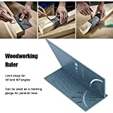 Turbobm Practical Multi-purpose 3D Mitre Angle Measuring Gauge Woodworking Ruler Square Size Measure Tool For 3D Object Measurement: wood, pipes, etc