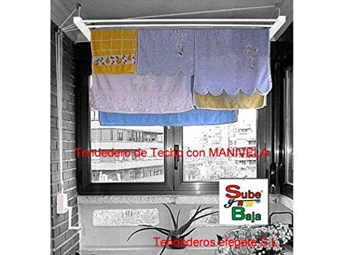 Tendederos Efegete Tenmv140 - Tendedero techo manivela