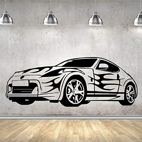 Decal Decor Home Sport Car Flame Racing Car Removable Wall Vinyl Sticker  100x38cm