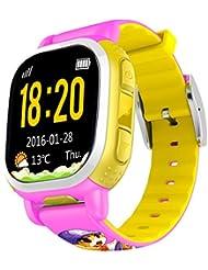 Tencent QQ Armbanduhr GPS, Android iOS Kinder Mädchen Jungen Smart Watch für Kinder Sicherheit Uhr mit Kamera sim Anrufe Antiverlust SOS Locator Activity Tracker Smart Armband für Mädchen Jungen