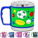 Prezzie Villa® Cartoon Mug for Boys Stainless Steel Emboss Hot and Cold Coffee/Milk/Tea Mug for Kids Cute Cartoon Print Soft