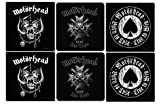 Motörhead - Untersetzer Coaster 6er Set - Bad Magic - Aces Of Spades - Logo