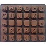 Molde de Silicona de Letras del Alfabeto A-Z para galletas, chocolate, jabón, cubos de hielo