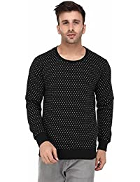 Vivid Bharti Black Round Neck Full Sleeve Doted Sweatshirt