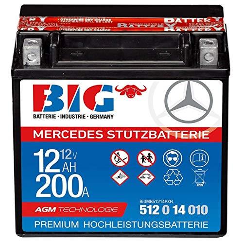 Stützbatterie 12V 12 Ah BIG AGM A2115410001 M-Benz inkl. Säurepack