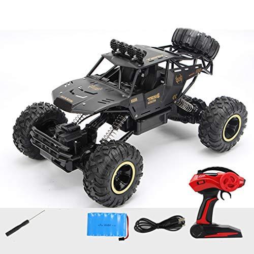 RC-Auto, Ferngesteuertes Auto, Terrain-RC-Autos, Elektrische Fernbedienung Off Road Monster Truck, 1:14 2,4 GHz RC-Auto mit 2 wiederaufladbaren Batterien (Color : Black)