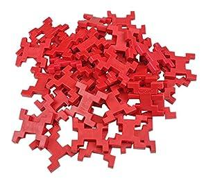 INCASTRO Rígida 014R-Juegos de construcción rígida Cube, L 60Unidades, Rojo