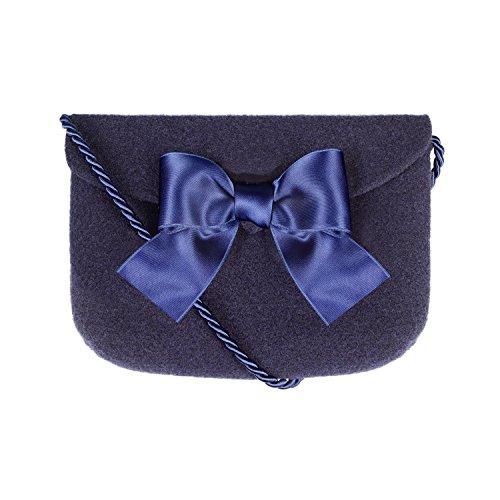Almbock Trachten-Tasche Lilly in dunkel-blau - Trachtentasche handmade, handgemacht, aus 100% echtem Wollfilz, Tasche mit Schleife (100% Wollfilz Herz)