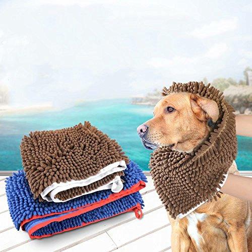 LaiXin Dog bathrobe Zellar Microfibre Towel Pet Robe Cat Towel Quick Drying and Fast Absorbent Drying Pyjamas Braun - 80cm
