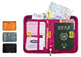 #4: Travel Passport Cover Holder Wallet Case with Zip for Credit Debit Card Ticket Coins Money Cash Currency Boarding Pass Pen
