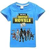 SERAPHY Camiseta de Manga Corta de Algodón Fortnite Camisetas Niños Maravillosos Regalos para Niños Negro-83 120