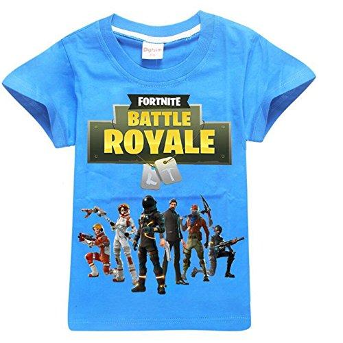 SERAPHY Camiseta de Manga Corta de algodón Fortnite Camisetas niños  Maravillosos Regalos para niños Azul- d056c06aa83