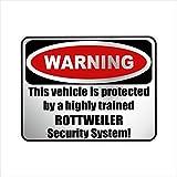Siviwonder Auto Aufkleber ROTTWEILER WARNING ALARMANLAGE Hundeaufkleber silber metallic