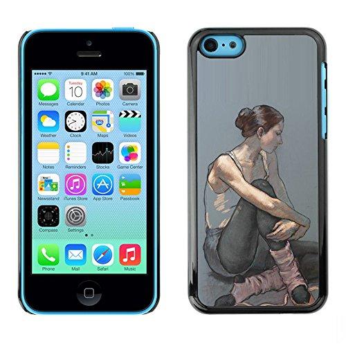 Ballerina Woman Painting Art - Aluminum Metal & plastica dura Phone caso - nero - iPhone 5C