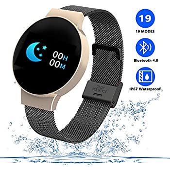 TZLong Smartwatch Hombre Mujer Reloj Inteligente Impermeable ...