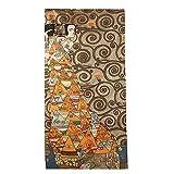 Artis Vivendi Wandteppich Gobelin Teppich Gustav Klimt Die Erwartung Dunkel Großer Teppich handgenäht